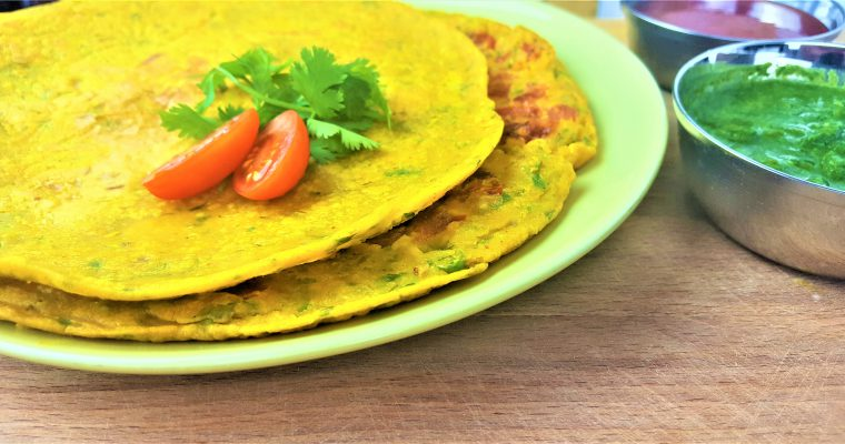 Besan Cheela or Chilla | Vegan Chickpea Flour Omelette