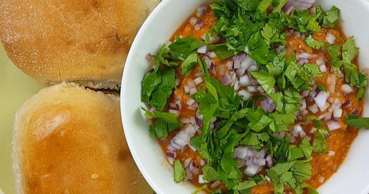 Bombay Style Pav Bhaji Recipe | Mashed vegetables in a Tomato Gravy