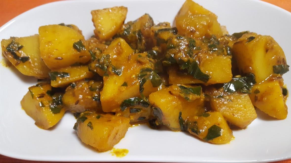 Aloo Methi Recipe | Spiced Potatoes & Fenugreek