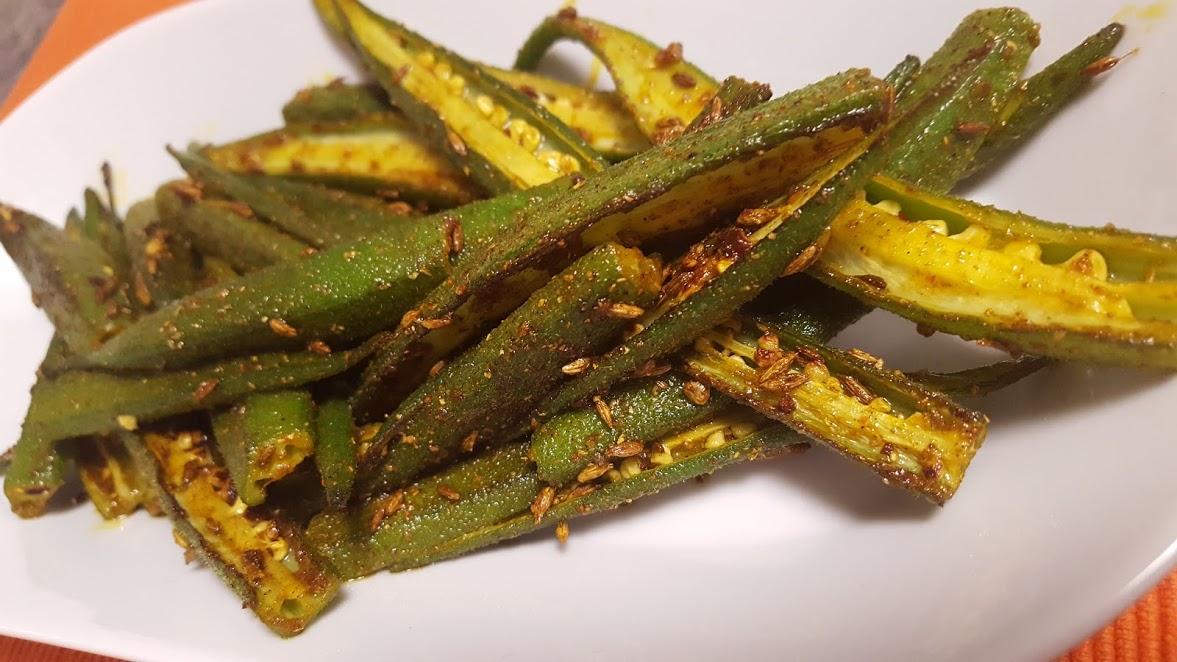 Lightly Spiced Bhindi Ki Sabzi Recipe | Indian Spiced Okra