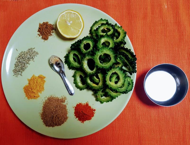 Karele Ki Sabzi Recipe with Step by Step Photo dontask4salt vegetarian Indian recipes