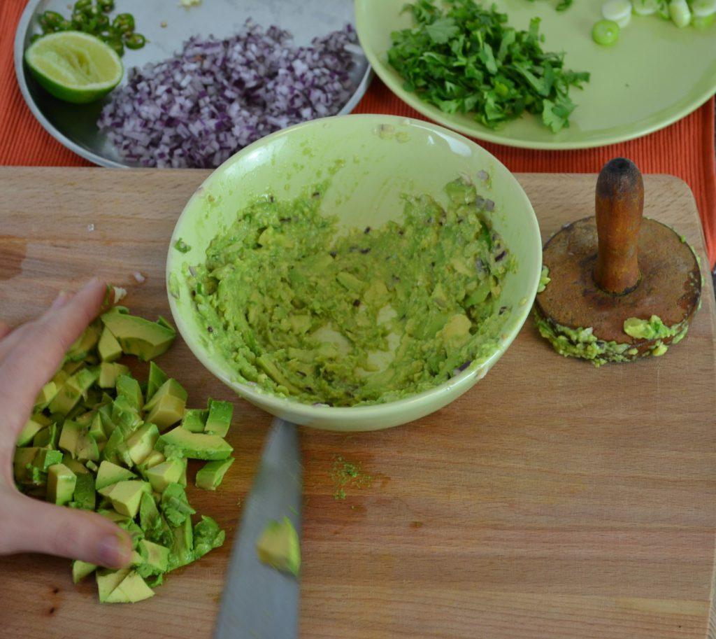 Guacamole and vegetarian quesadillas recipe