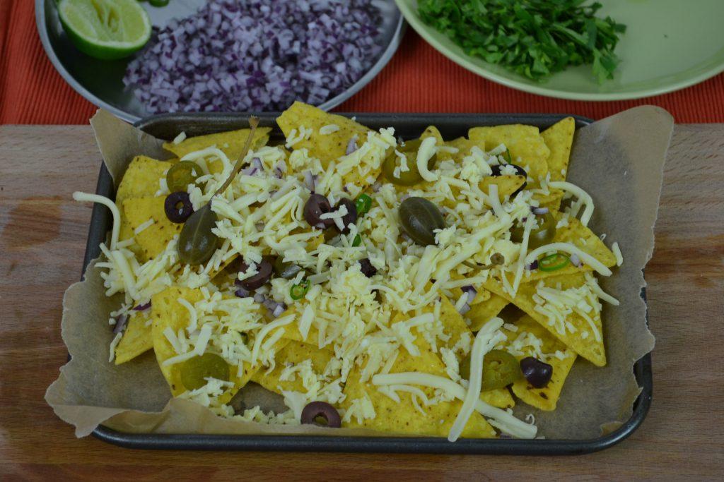Nachos and vegetarian quesadillas recipe