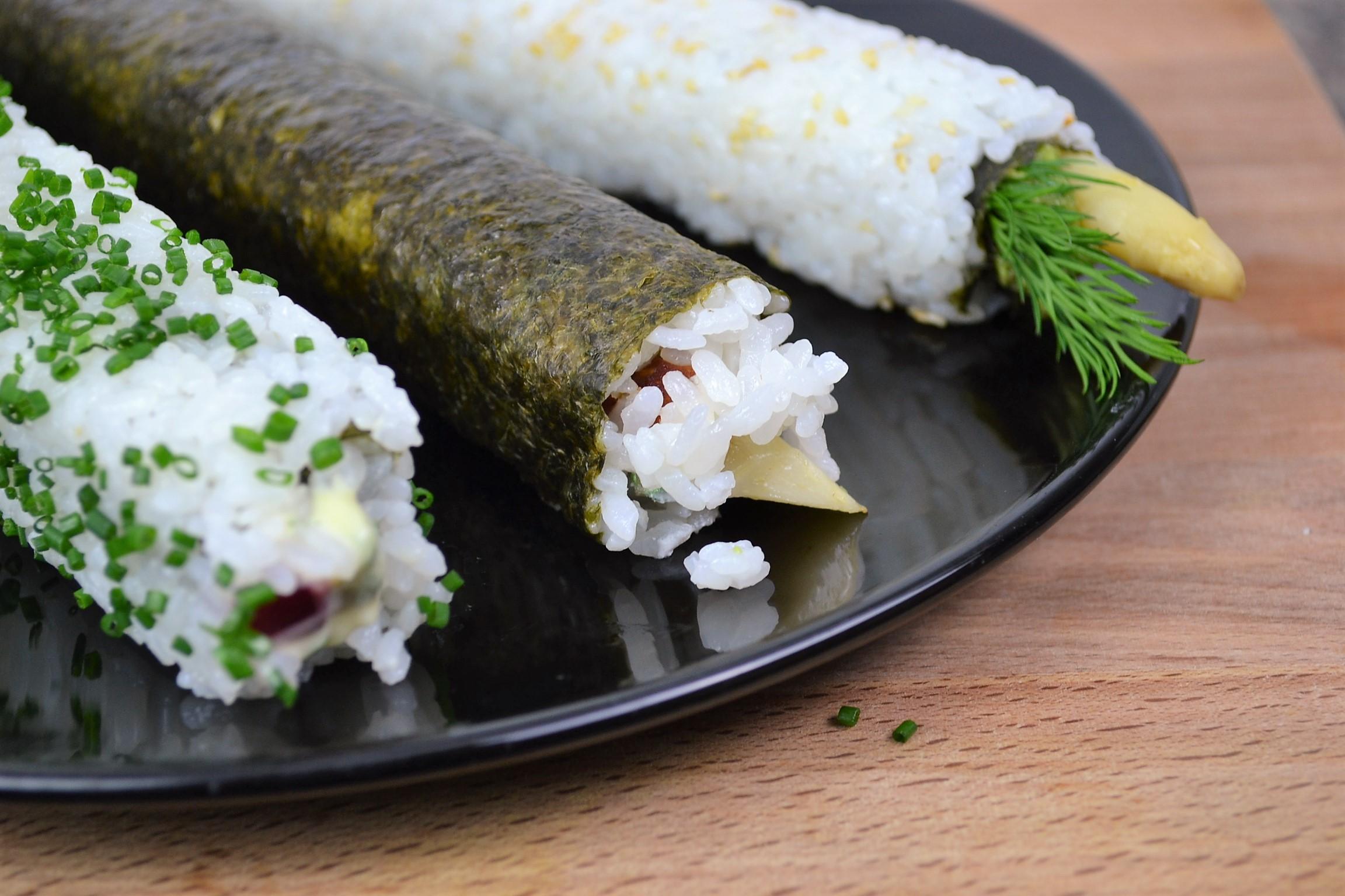 Vegetarian Sushi Rolls dontask4salt.com
