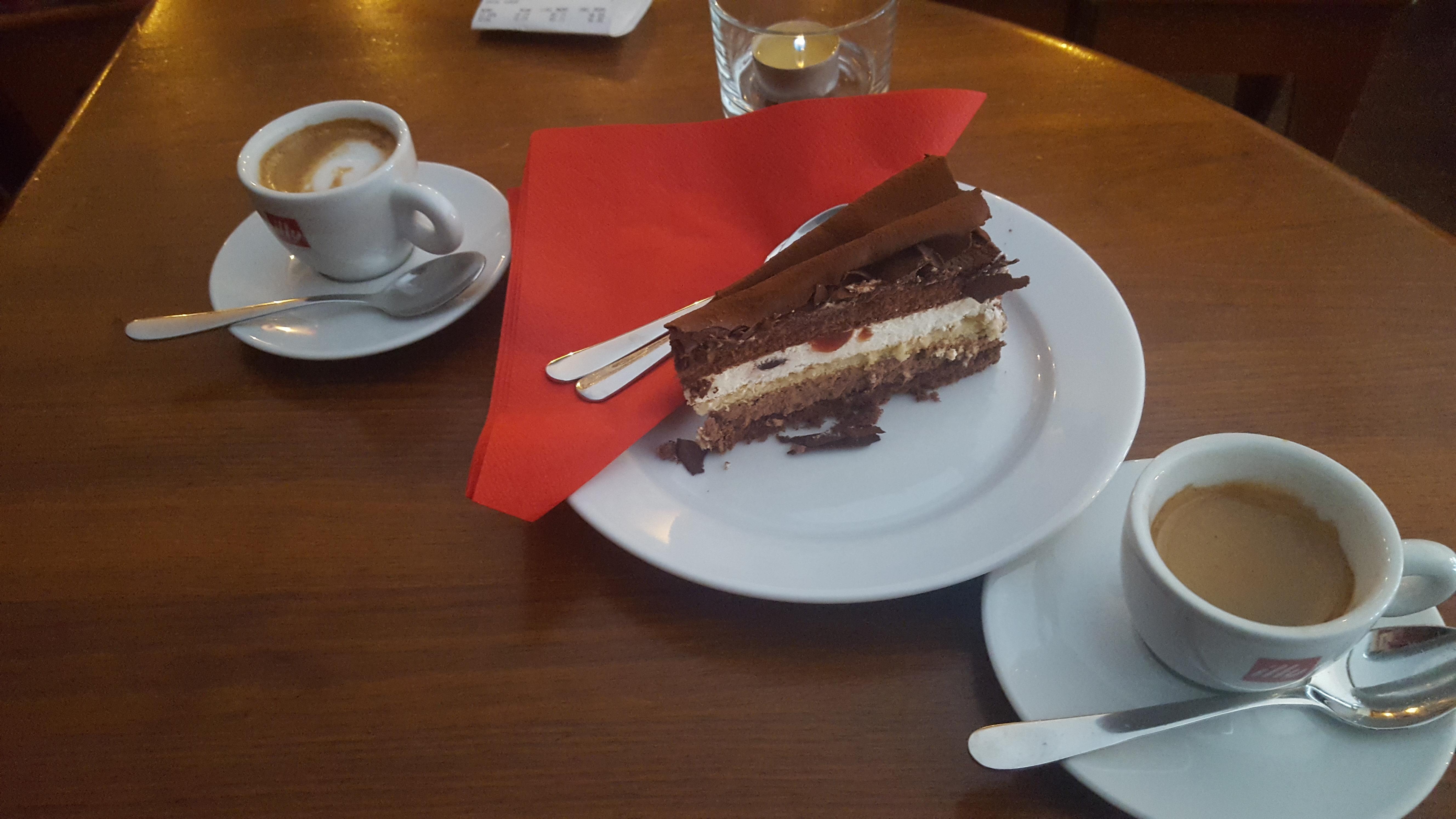 Black Forest Cake Slice - Cafe Albert   Vegetarian Food in Stockholm