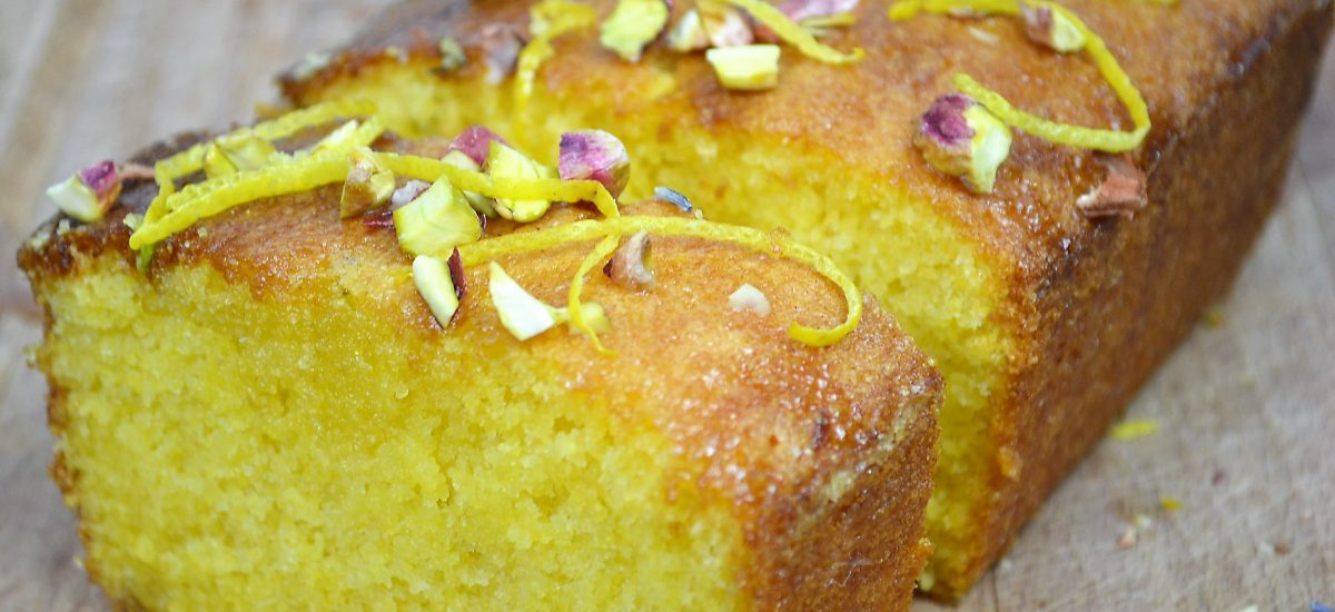 Tea Time Lemon Lavender Polenta Cake