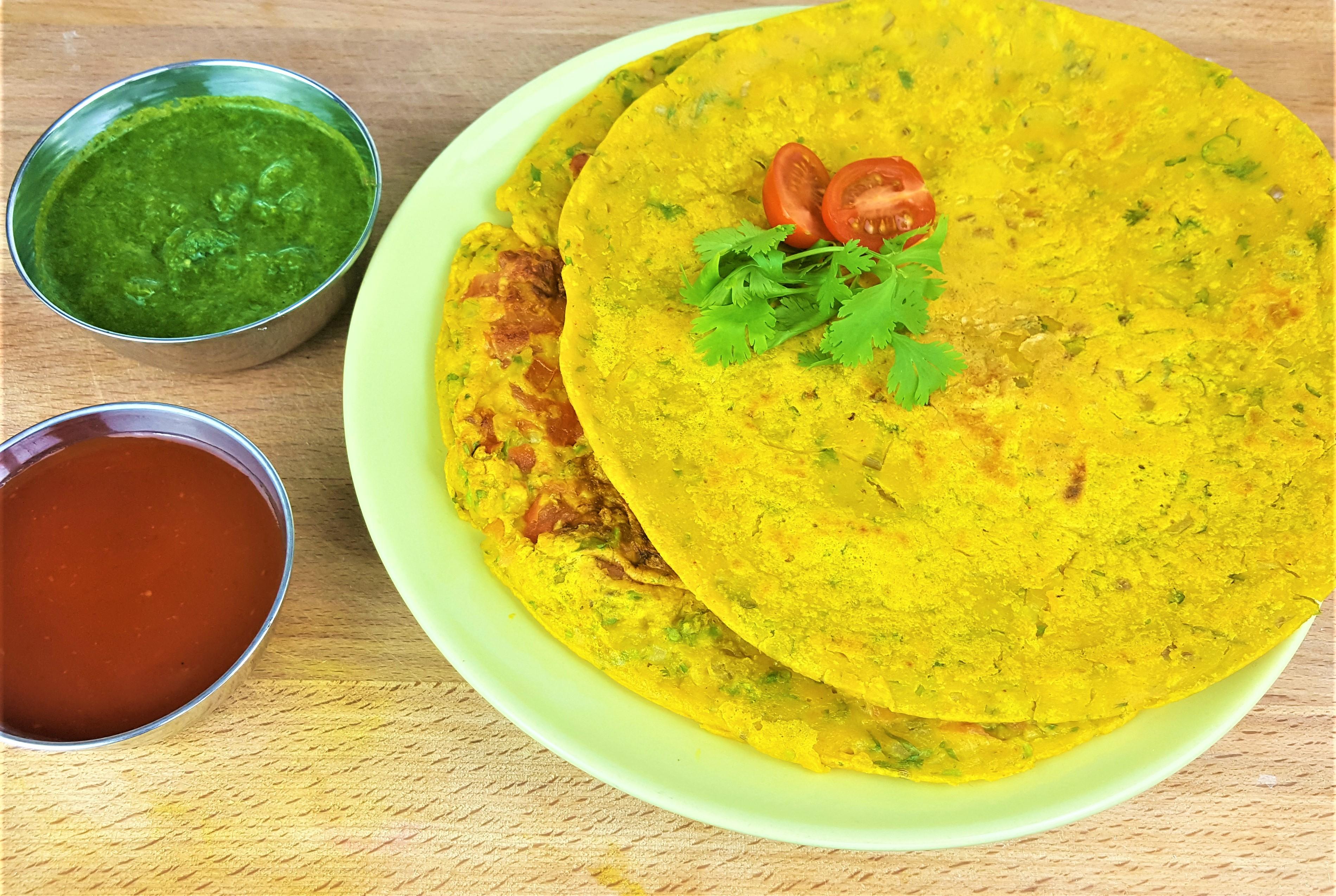 Cheela | Besan Chilla | Vegan Chickpea Omelette